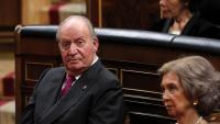 Joan Carles de Borbó, pare de Felip VI, a l'hemicicle del Congrés, el maig del 2019