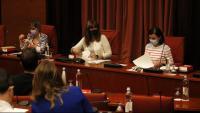 Una reunió de la Junta de Portaveus al Parlament