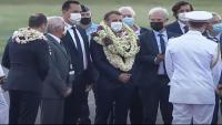 Macron, durant la seva recent visita a la Polinèsia