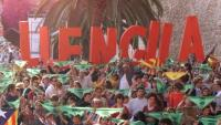 Manifestació a Palma en favor de la llengua catalana, en una imatge d'arxiu