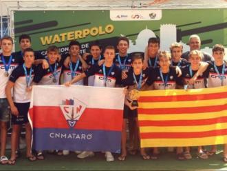 L'equip del CN Mataró campió estatal cadet.