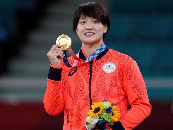 Chizuru Arai, campiona en judo en menys de 70 quilos.