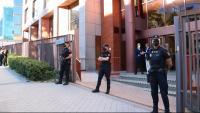 Policies espanyols vigilen l'accés al Tribunal de Comptes