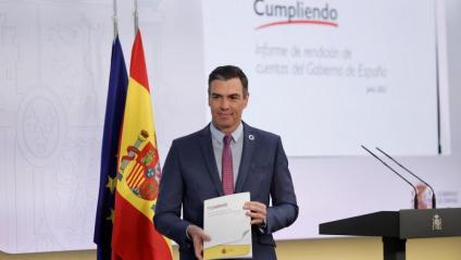 Sánchez, ahir a La Moncloa amb l'informe de compliment de compromisos