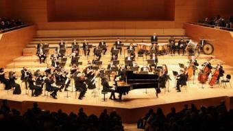 Pla general de l'Orquestra Simfònica del Teatre Mariinsky durant la interpretació del concert per a piano núm. 2 de Rakhmàninov