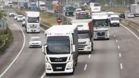 Trànsit de vehicles a l'AP-7 a Sant Cugat del Vallès