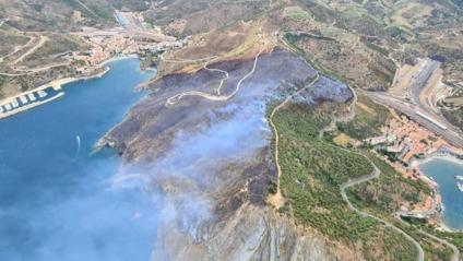 L'incendi de Portbou, estabilitzat
