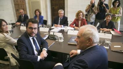 El conseller Maragall va presidir l'última reunió de la bilateral, fa tres anys, amb el vicepresident Aragonès al costat