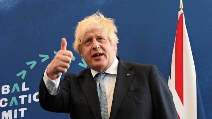 Boris Johnson, primer ministre britànic, durant un acte a Londres la setmana passada