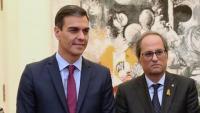 La reunió que va tenir lloc el desembre del 2018 a Pedralbes entre els governs català i espanyol