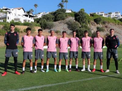 Nou futbolistes del filial han fet la pretemporada amb l'Espanyol a Marbella.