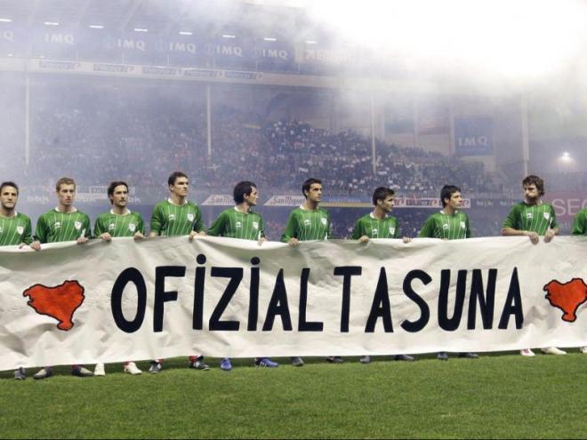 Un partit de la selecció Basca que segueix buscant el reconeixement de ple dret de la UEFA.