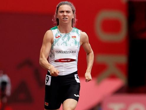 La velocista en les sèries dels 100 m