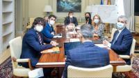La reunió al matí per desencallar el projecte del sistema aeroportuari va precedir la comissió bilateral de la tarda