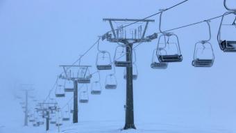Telecadira d'una pista d'esquí al Pirineu
