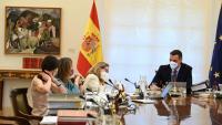 Sánchez va presidir ahir l'últim Consell de Ministres del curs, que va aprovar una pròrroga de l'escut social