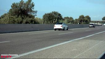 Imatge capturada pel radar dels Mossos dels dos vehicles