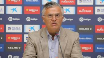 Durán en la seva compareixença d'avui en el marc de la presentació de Sergi Gómez.