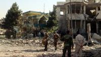 Membres de les forces de seguretat afganeses a la residència del ministre de Defensa atacada a Kabul