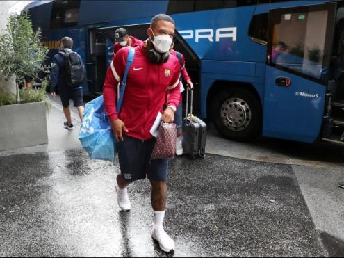 Memphis Depay, en l'arribada de l'equip a Salzburg