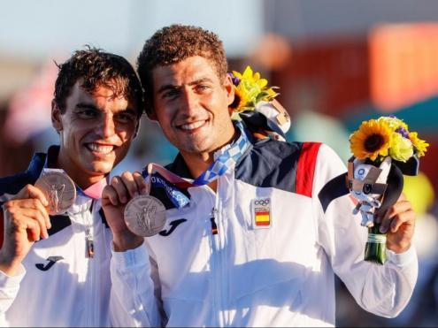 Jordi Xammar i Nicolás Rodríguez amb les medalles