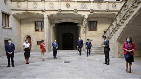 Aragonès rebent Pedro Sánchez