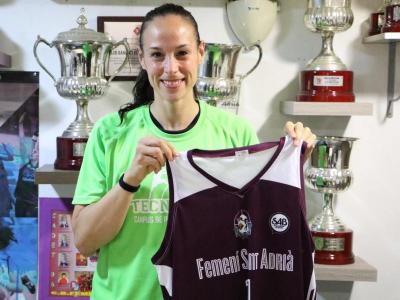 Núria Martínez, feliç de poder tornar a jugar