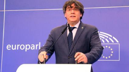 Carles Puigdemont al Parlament Europeu