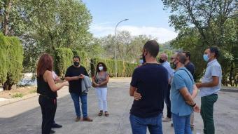 Els batlles de Girona, Salt i Sarrià van visitar la incineradora de Campdorà per acompanyar el nou director de l'Agència de Residus de Catalunya, Isaac Peraire, dimecres.