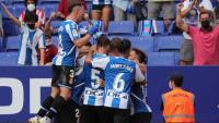 Els jugadors de l'Espanyol celebren un gol