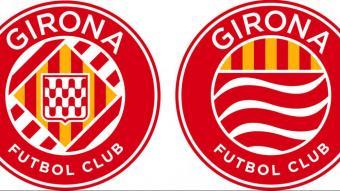 Les dues opcions de les quals sortirà el nou escut del Girona