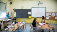 Preparació del curs a l'escola Silvestre Santaló de Girona, la setmana passada