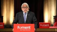El president de Foment del Treball, Josep Sánchez Llibre, en una roda de premsa