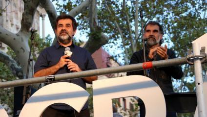 Jordi Sànchez i Jordi Cuixart en una imatge del setembre de 2017