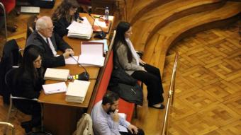 Rosa Peral i Albert López durant el judici a l'Audiència Nacional el 2017