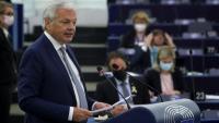 El comissari de Justícia de la UE, Didier Reynders, s'adreça als diputats durant una sessió al Parlament Europeu