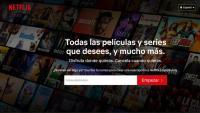 Captura de la pàgina web principal de Netflix