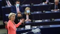 Ursula von der Leyen, presidenta de la Comissió Europea, durant el debat sobre l'estat de la UE, celebrat a setmana passada al Parlament d'Estrasburg