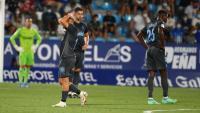 Els jugadors del Girona es lamenten a La Rosaleda