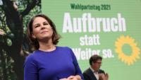 Baerbock, candidata dels Verds a la cancelleria, en el darrer congrés del partit, a Berlín