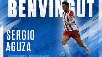 Aguza és oficialment nou jugador del Sabadell