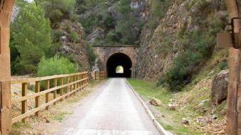 Zona de túnels a la via verda de la Val de Zafán