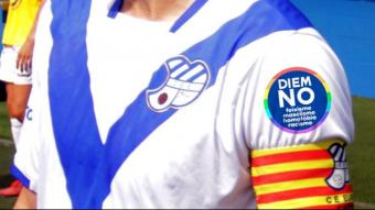 Els primers equips del club escapulat portaran a la samarreta la reivindicació