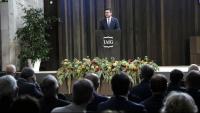 El president Aragonès durant la seva participació en l'acte d'inauguració del curs acadèmic 2021-2022