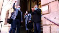L'alcalde de Roquetes, Paco Gas, entra al judici al jutjat penal de Tortosa, l'abril passat