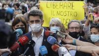 El vicepresident Carles Puigneró a la concentració