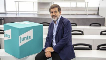El secretari general de Junts per Catalunya, Jordi Sànchez, a la seu del partit