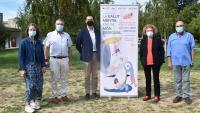 Representants de les entitats i institucions promotores del programa organitzat amb motiu del Dia Mundial de la Salut Mental