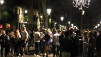 El botellón de la matinada al Born, Montjuïc i d'altres places de Barcelona
