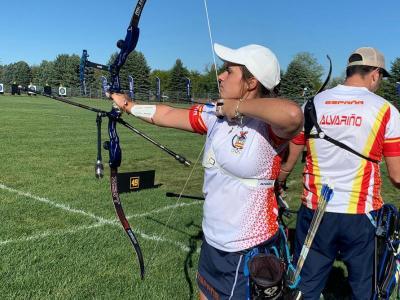 Elia Canales en la competició per equips mixt